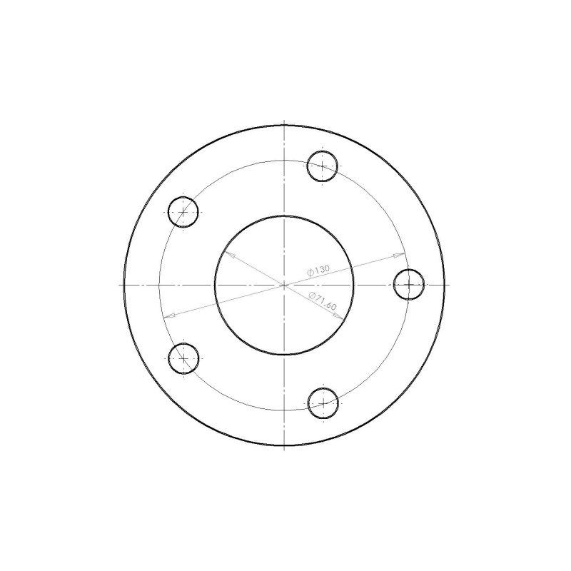 Distanzscheibe 7mm Lk 5x130mm Nlb 716mm Spurverbreiterung 14mm